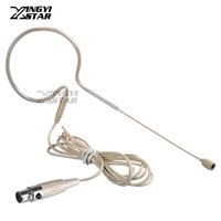 Wholesale Wireless Headset Microphone System Uhf - Mini XLR 4 Pin TA4F Wired Single Earhook Condenser Mic Headset Microphone Microfone Microfono For UHF Wireless System BodyPack Transmitter