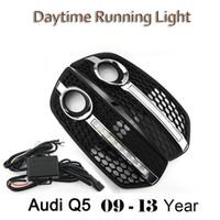 Wholesale Running Light Kit Drl - High quality Car style Day Light DRL FOR Audi Q5 2009-2013 LED Daytime Running Lights Fog Lamp Cover Kits