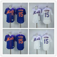 Wholesale Gold Mix Order - 2017 New York Mets Jersey Mens #15 Tim Tebow White with Blue Baseball Jerseys Free shipping Mix Order
