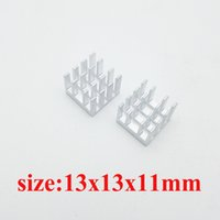 Wholesale 10PCS High quality heatsink x13x11 mm heat sink aluminum radiator chip thermal block electronic cooling aluminum white cutting slot