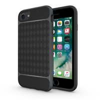 Wholesale white carbon fiber skin for sale - Newest Environmental Carbon Fiber Case For iPhone S Plus Soft TPU PC Frame Anti Skid Anti Knock Cover For iPhone Plus Leather Skin Bag