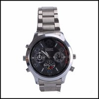 Wholesale Camera High Definition - Super High Definition 2K 1296P 16GB 32GB Spy Watch Camera H.264 Waterproof Hidden Spy Cameras Watch Camcorder DVR Audio Video Recorder