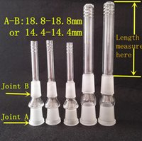 Wholesale E Cigs Pipes - ASD-6 E cigs Glass Downstem 14.4mm and 18.8mm Female Diffuser down stem For Glass pipe and Bong Smoking Accessory