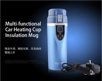 Wholesale Electric Heated Travel Coffee - Best gift Car Electric Mug 12V Auto Travel Cup Thermos Bottle Heating Cup Boiling Water Tea Coffee Insulation Free Shipping