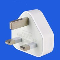 adaptador colorido al por mayor-Cargador USB de pared con cargador Cargador UK Plug 5V 1A para Power Travel Adapter para iphone andriod colorido