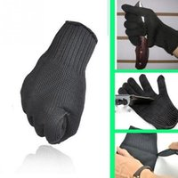 Wholesale Gloves Anti Cut - 1 Pair Outdoor Sports Hand Protective Gloves Stainless Steel Wire Safety Anti-Slash Gloves Metal Mesh Anti-cutting Breathable Mitten