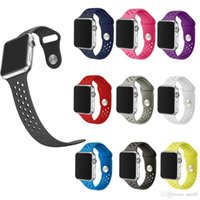 Wholesale Cheap Iwatch - 42mm 38mm S L size cheap rubber Silicone Colorful wrist band for Apple Watch bands Strap Sports Bracelet for apple iwatch Series 2&1