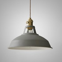 OOVOV Fer Macaron Lid Suspension Lampe de Table Restaurant Balcon Cafe Bar, 26.5cm, E27, Gris, Blanc, Rouge, Vert, Bleu, Jaune