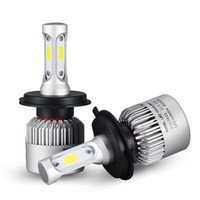 Wholesale H4 12v - H4 H7 H11 H1 H13 H3 9004 9005 9006 9007 9012 COB LED Car Headlight Bulb Hi-Lo Beam 72W 8000LM 6500K Auto Headlamp 12v 24v Car Fog Lights