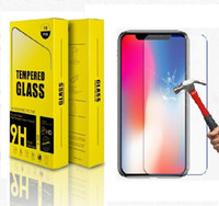 Wholesale cell phone protectors cases online – custom Cell Phone Screen Protector For iPhone x plus Tempered Glass H Hard mobile phone Case For iPhone8 Protective Glass Cover Film iphone7