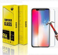 protector de vidrio para celular al por mayor-Protector de la pantalla del teléfono celular para iPhone x 8 más caja del teléfono móvil duro 9H de cristal templado para la película protectora de la cubierta de cristal iPhone8 6 5 5