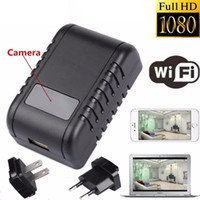 Wholesale Ccd Camera Adapter - Mini 1080P WIFI HD SPY DVR Hidden Wall Charger Camera Adapter Plug Nanny Cam Wireless Network Security Camera Support APP Remote View