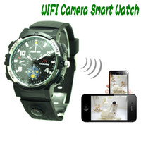 Wholesale Watch Voice Video Recording - 720P WIFI smart Watch Y32 Remote Monitoring Camera Watch Support LED Video Voice-Recording IR Night Vision SPY hidden camera Wrist Watch ann