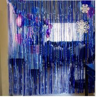 1 2m metallic foil fringe door rain curtains party christmas wedding photo booth props marriage gathering backdrop decorations - Foil Christmas Door Decorations
