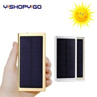 usb externes akku-ladegerät groihandel-Angepasstes Logo 10000mAh Ultra Thin Solar-Energien-Bank-Powerbank External Battery Pack Handy-USB-Ladegerät für iPhone