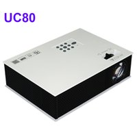 Wholesale video projector prices - Wholesale-Cheaper price 2400lumens UC80 Multimeda HD LED Home Theater MINI Projector For Video Games TV MovieI With HDMI TV Support 1080P