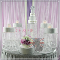 Wholesale crystal cake stand set resale online - Cake stand Diameter CM set Wedding Cake Stand Crystal Centerpieces