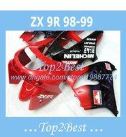 Wholesale High Quality Fairing Body Kit - High quality red Fairing body kits For KAWASAKI NINJA ZX9R 1998-1999 ZX9R 98-99 ZX 9R fairings #g84l2