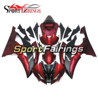 Carrinhos completos para Yamaha YZF600 R6 08 - 15 Ano 2008 2009 2010 2011 2015 Sportbike ABS Motorcycle Fairing Kit Red Black Matte