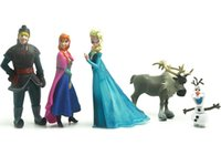 Wholesale 5pcs set Frozen Anna Elsa Kristoff Olaf and Reindeer Decor Toys Christmas Gifts and Toy Dolls