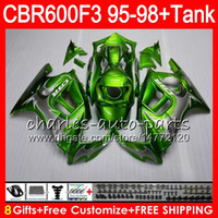 Wholesale purple fairings for honda cbr resale online - 8Gifts Colors For HONDA CBR600F3 CBR600RR FS silver flames HM14 CBR600 F3 F3 CBR F3 green Fairing