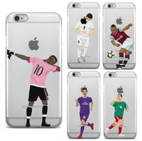 Wholesale Wholesalers Football Phone Cases - Cases For iPhone 5 5S SE 6 6S PLUS 7 7 PLUS Ultra Thin Football Clear Phone Football Superstar Winner Messi Ronaldo Rooney