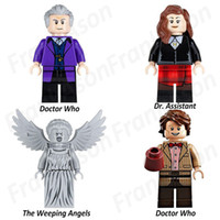 Wholesale Dr Figures - Doctor Who Figures Super Heroes Minifig Doctor Who Dr. Who Dcotor Assistant The Wheeping Angels Figure PG8038 Mini Building Block Figures