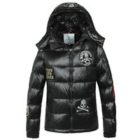 Wholesale France Down Jackets - HOT Luxury Brand France Anorak Men skulls Down Jacket Winter Outerwear High Quality Warm Man Down coat Parka Anorak Jackets