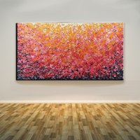 Wholesale Orange Abstract Canvas Art - Framed Abstract Pink And Orange,Pure Hand Painted Modern Wall Decor Abstract Art Oil Painting On Quality Canvas.Multi sizes Available Ab023