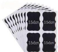papel autocolante para giz venda por atacado-36 / set Quadro de Giz Quadro De Giz Adesivos de Artesanato De Cozinha Jarrão Rótulos, PVC quadro negro papel adesivo, frete grátis
