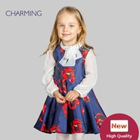 Wholesale T Shirt Kids China - Brand girls special occasion dresses Designer dresses for kids High quality sleeveless round neck print style Best wholesale from china