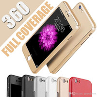Wholesale Iphone 5s Full Protective Case - Utra Thin Slim 360 Degree Coverage full body hard PC With Tempered Glass Hybrid Protective Cover Case For iPhone X 8 Plus 7 6 6S SE 5 5S