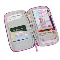 Wholesale canvas document holders for sale - Group buy Portable Full Closure Zipper Travel Organiser Passport Holder Wallet Full Closure Zip Document Bag Travel Passport Wallet