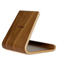 Wholesale Wood Ipad Holder - Samdi Wooden Tablet Stand, Premium Hard Natural Wood Stand Holder for IPad Mini, IPad Air Google Nexus Kindle Fire