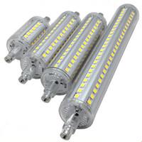 r7s führte 78mm 15w großhandel-Dimmbare Birne R7S LED der hohen Leistung Mais-Birnen 2835 SMD 78mm 118mm 135mm 189mm Licht 5W 10W 12W 15W ersetzen Halogenlampe Wechselstrom-85-265V Flutlichter