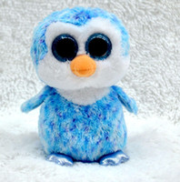 Wholesale Hottest Toys China - Wholesale- TY Beanie Boos sky-blue Penguin Big eyes Stuffed Plush baby doll 15cm Soft Mini lovely troll doll kid toy china hot sale