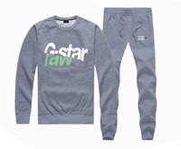 fleece gefüttert pullover hoodie großhandel-M533967415 Heißer verkauf G-STAR Sweatshirts + HOSEN anzug für Männer und Frauen Fleece Gefüttert Hip Hop Skateboard Crewneck hoodies S-4XL