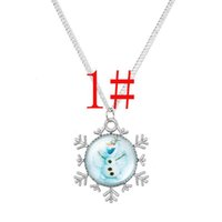 Wholesale Dress Style Jewelry - new arrive 10 styles mixed Frozen Necklaces Colorful Necklace Cartoon Pendants Baby Clothes Girls Dress Accessories Children's Jewelry