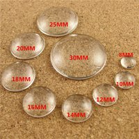 Wholesale 14k jewelry findings resale online - 8MM MM MM MM MM MM MM MM MM MM round gem clear glass cabochon DIY jewelry accessories Glass Domed Cabochons Cover Finding