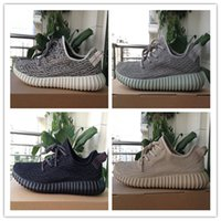 Wholesale womens shoes oxfords - [With Box]2017 Boost 350 V1 Kanye West Pirate Black Turtle Dove Moonrock Oxford Tan Camo Pink White Mens Womens Senakers Running Shoe