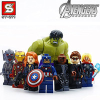 Wholesale 8pcs Lepin Avengers Super Hero Models Building Blocks Toy cm height size