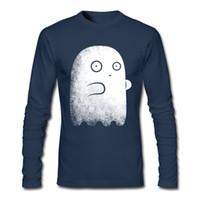 Wholesale Fine Online - Ghost style boy's unique design tee shirt new long sleeve clothes fine cotton for men online shopping T-shirt 2XL