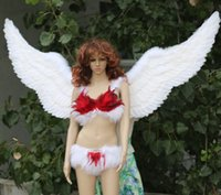 Wholesale Large Wings Costume - Single wing 1 meters super large feather angel wing show, auto show underwear show secret props wings LLFA