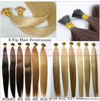 """Wholesale Remy Pack Hair - ZZHAIR 16""""-24"""" Stick I-Tip Remy Hair 100% Brazilian Human Hair Extensions 100s pack Capsule Keratin Hair 100g"""