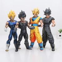 Wholesale Action Figure Anime Resin - 26cm Anime Dragon ball Z MSP The Vegeta Manga Ver. Super Saiyan Goku PVC Action Figure Resin Collection Model Toy Gifts