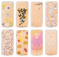 Wholesale Unicorns Case - Flower Unicorn Henna Paisley Soft TPU Case For Iphone X 8 7 Plus Galaxy S8,Plus (J3,J7,A3,A5,A7)2017 J320 J720 Mandala Dreamcatcher Gradient
