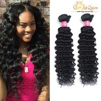 Wholesale Hot Extensions - Hot Selling!!! 8A Grade Deep Wave Brazilian Human Hair Weaves100% Unprocessed Human Hair Extensions 4Bundles Brazilian Human Hair Weaves