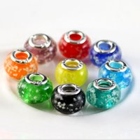 Wholesale Mixed Metal Jewerly - 100pcs Mix Style silver DIY Luminous beads european beads fit pandora Bracelets Bangle  Necklaces Women jewerly charms beads H2