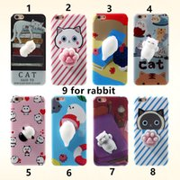 Wholesale Black Cat House - i6 i6s i7 i7+ Funny Cute Cat Squishy Mobile Phone Case For iphone 6 6plus 5 Squishy Case Soft Housing Case Kneaded Cover