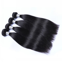 Wholesale 5a virgin hair pcs online - Grade A Top Quality Brazilian Peruvian Indian Hair Extensions Silk straight Double Weft No Shedding No Tangle Durable g pc